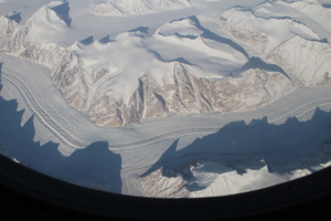 Image of the eastern coast of Greenland.